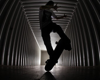"""Rodney Mullen Skateboarding Photograph - Rodney Mullen 2012 Skateboard Photo - 18x24"""" Sports Print"""