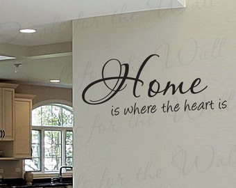 Home Where Heart Entryway Entry Family Home Love Living Room Vinyl Lettering Quote Large Wall Decal Art Sticker Decoration Saying Decor H21