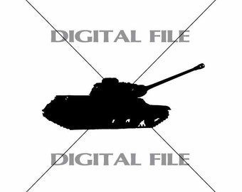 Army Tank A2  Vector Image Vinyl Decal T-shirt Digital Cutting Files ,Svg Files, Ai, Eps, Dxf