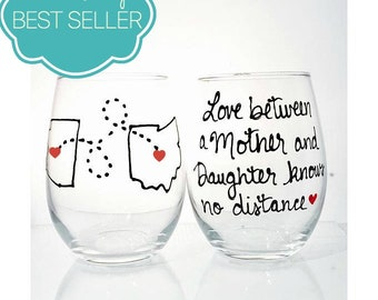 Mothers Day from Daughter, Mother's Day Gift for Mother, Gift Mom, Wine Glass, Mom Gift for Mom Wine Glass, Mom Birthday Gift