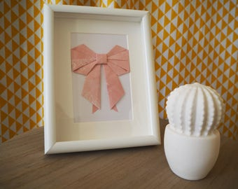 Origami bow decor frame