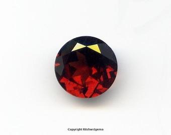 Beautiful Burnt Orange Semi Precious 8 mm Faceted Round Brilliant Orissa Garnet AAA