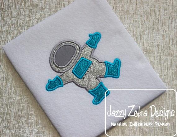Astronaut Spacesuit embroidery Applique - space man appliqué design - space appliqué design - astronaut applique design