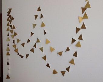 Gold Geometric Wedding Garland, Gold Foil Triangle garland, Gold Party Garland, Gold Decoration, Garland Decoration.