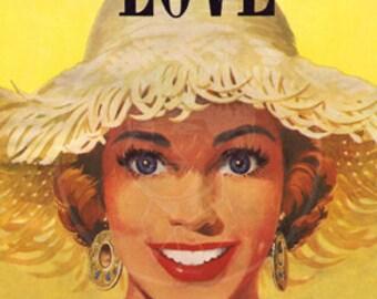 New Love Magazine (Sept. 1954) - 10x14 Giclée Canvas Print of Vintage Pulp Romance Magazine
