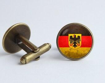 German flag cufflinks Flag of Germany cuff links Groomsmen gift German flag Germany Patriotic gift Flag cuff links Patriotic jewellery