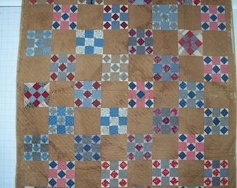 Antique Quilt, 9-patch variation