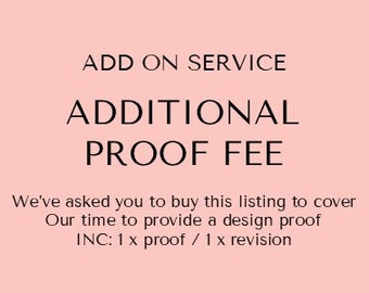 Additional Proof Fee- Guestbook | Guest Book | Add on service