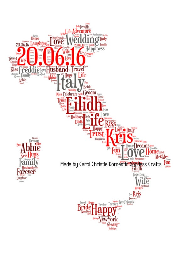 Map of italy word art italy word art personalised italian map of italy word art italy word art personalised italian map map of italy word collage personalised map of italy italian themed gift gumiabroncs Choice Image