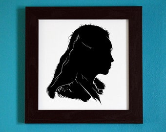 The 100 - Lexa - Silhouette Portrait Print