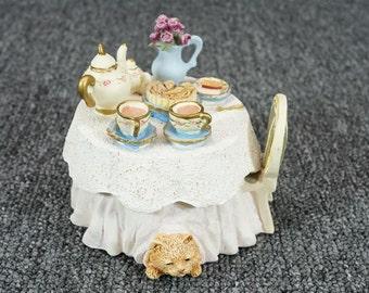 Vintage Figi Graphics Tea Party Trinket Box C. 1996