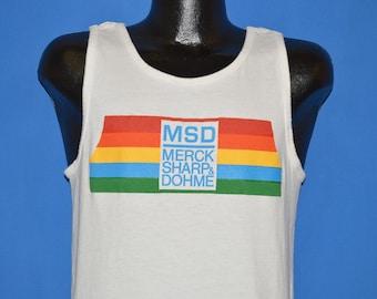 80s MSD Merck Sharp & Dohme Tank Top t-shirt Medium