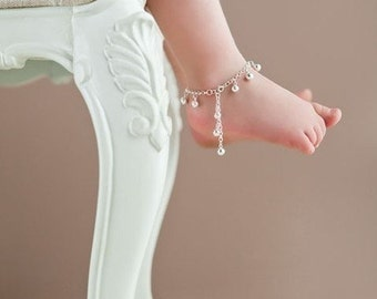 Jingle Bells Anklet || Baby Anklet with Bells || Boho Baby Jewelry || Sterling Silver || Danita Apple