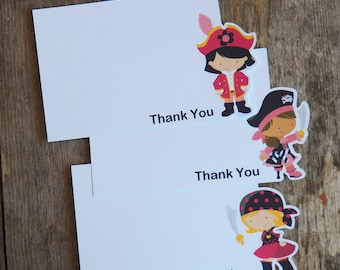 Pirate Girl Party - Set of 8 Pirate Girl Thank You Cards by The Birthday House