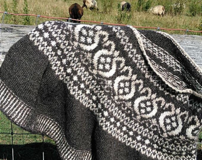 Featured listing image: Fair Isle Thistle Cape Pattern