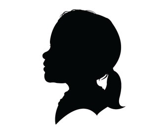 Custom Hand Cut Silhouette Portrait Great Mother's Day or Father's Day Gift