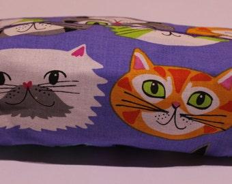 Purple Kitten make up bag