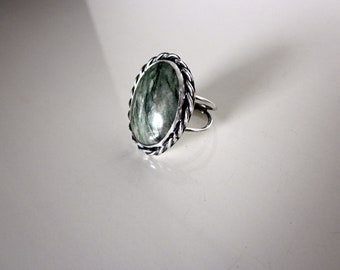 Oval Jade Statement Ring