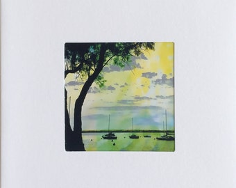 Greeting Card/Yachts Photo Art Card