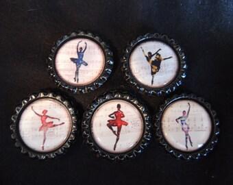 Dance magnets -set of 5