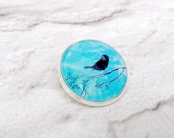 Bird Brooch, Bird Jewellery, Bird Gifts, Bird Silhouette