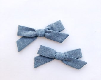 CHAMBRAY    Pigtail Set