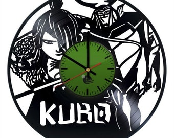 Kubo and the Two Strings vinyl clock handmade home bedroom living kids room nursery wall decor gifts idea for birthday men women