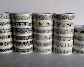 1 roll of Masking Tape, black and white patterned 15mm x 8 m (28 models)