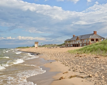 Ludington State Park Beach House - Michigan Photography - Stock Photography