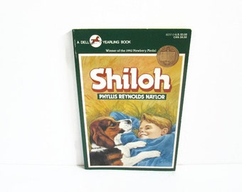 Shiloh Vintage Book, Phyllis Reynolds Naylor, Children's Book, Dell Yearling Book, Animal Abuse, Beagle Puppy Dog, Young Adult Newbery Medal