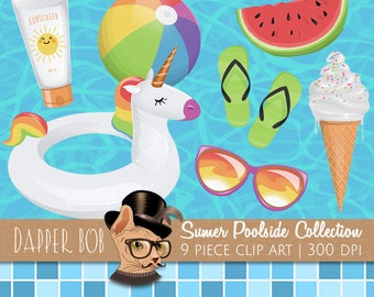 Summer At The Pool Clipart Collection