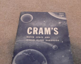 Vintage 1962 Paperback Book Cram's Outer Space and World Globe Handbook
