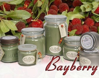 Bayberry Candles -  Christmas Scented Soy Candle Fragrance, Holiday Candles, Bayberry Scented Soy Candles