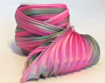 Silk ribbons Shibori  N 149  Free delivery from  50 dollar...