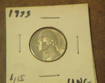 Uncirculated 1973 P Jefferson  Nickel