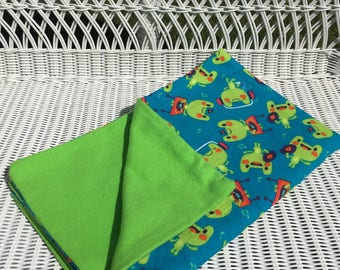 Blue Frog Receiving Blanket