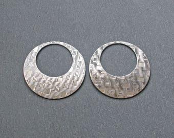 2 hoops of steel stainless 35mm