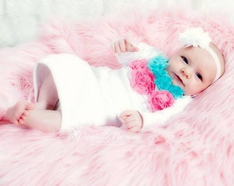 Take me Home Outfit Gown in two colors for Infant Newborn photo prop an Oh BABy Original