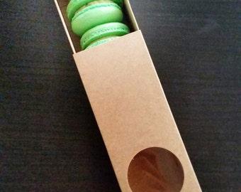Eco-friendly Small Brown Macaron boxes