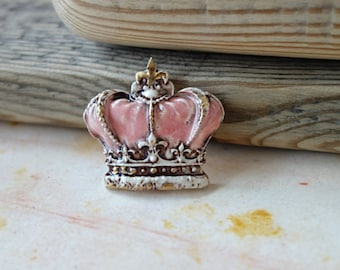 Ceramic cabochon Crown.Ceramic handmade