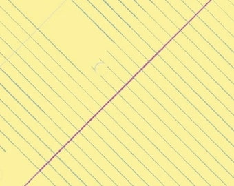 College Rule in Sunshine - Jot - cotton fabric - half yard or more