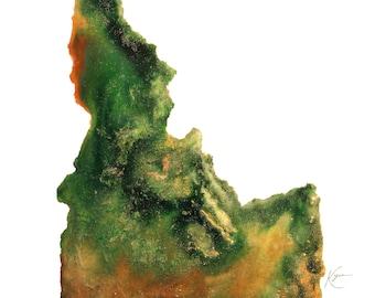 Idaho Topography Print