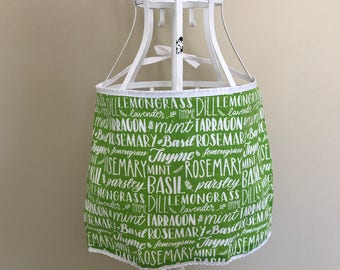 Kids Herbs Apron// Toddler Half Apron// Kids Towel Apron