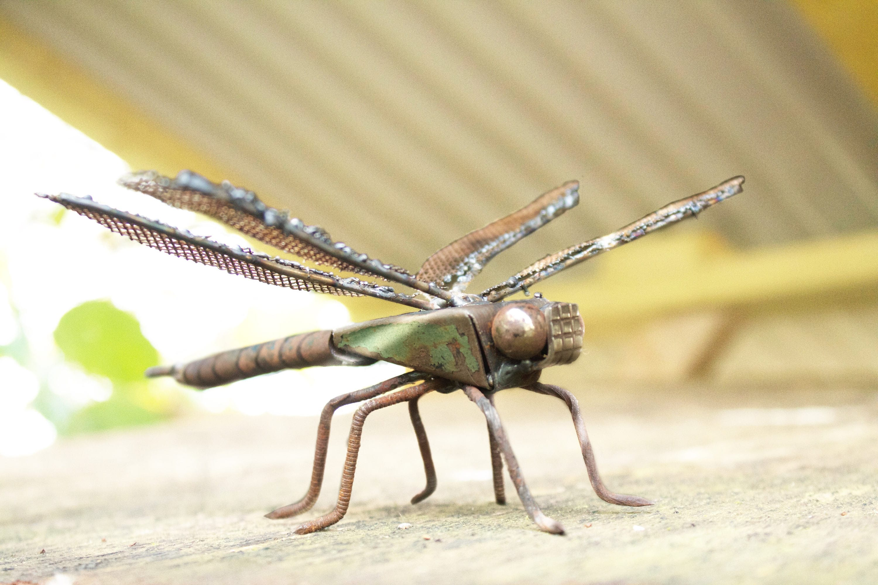 Dragonfly Sculpture Made From Scrap Metal Emperor Dragonfly