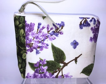 Lilacs Coin Pouch, Small Coin Purse, Credit Card Holder, Gift Card Pouch, Square Business Card Case, Small Zipper Pouch