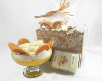 Scented Banana Pudding Candle & Wax Melt Gift Set