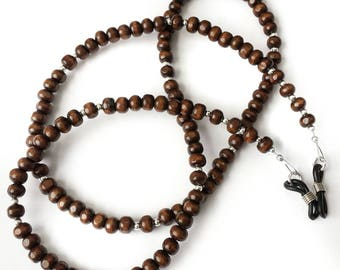 Wooden Beaded Glasses Chain - Spectacle Cord - Holder - strap - Retainer