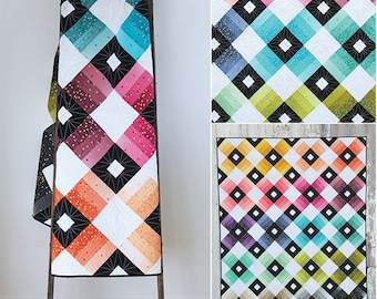 Ombre Lattice quilt pattern from V and Co
