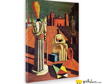 Modern paintings-Giorgio De Chirico-The disturbing Muse-yellow BUS