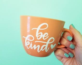 Be Kind // Hand-lettered Stoneware Mug